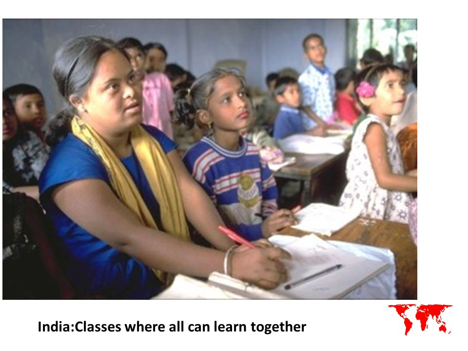 India:Classes where all can learn together