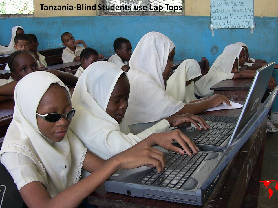 Tanzania-Blind Students use Lap Tops