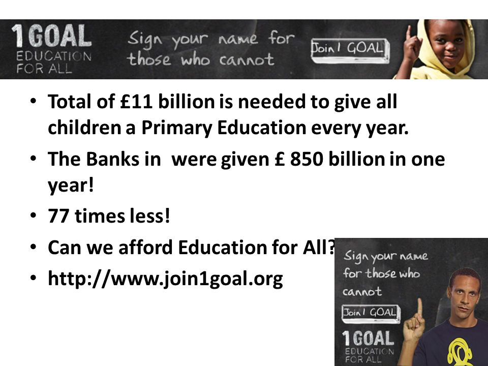 One Goal Education For All