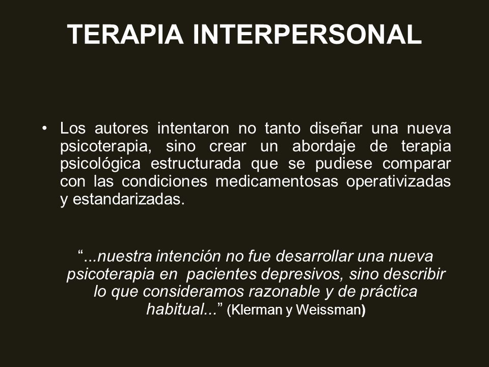 psicoterapia interpersonale