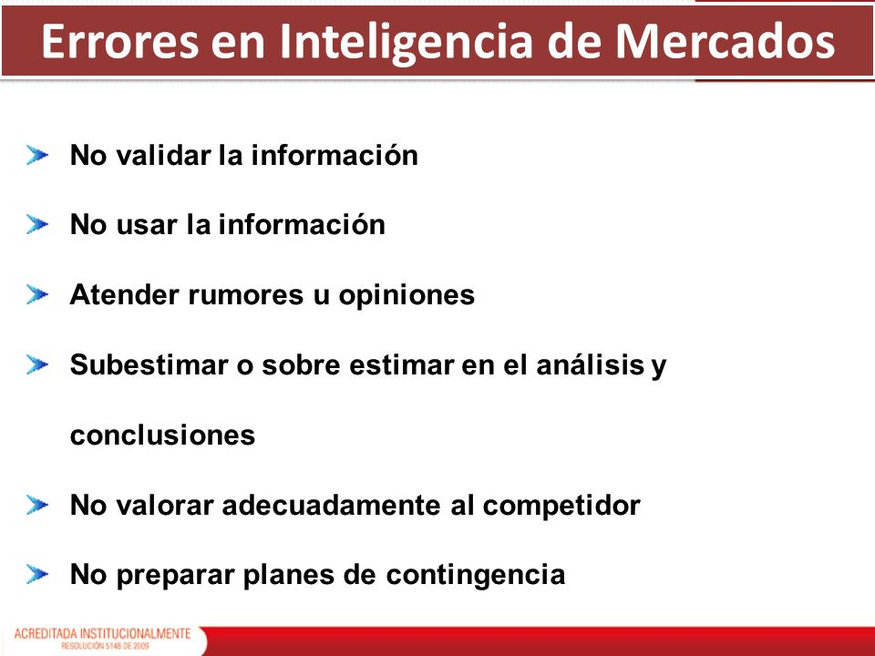 Errores en Inteligencia de Mercados