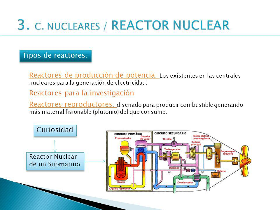3. C. NUCLEARES / REACTOR NUCLEAR