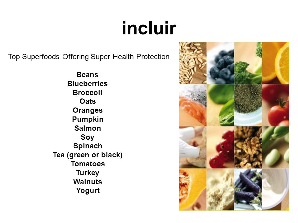 Top Superfoods Offering Super Health Protection