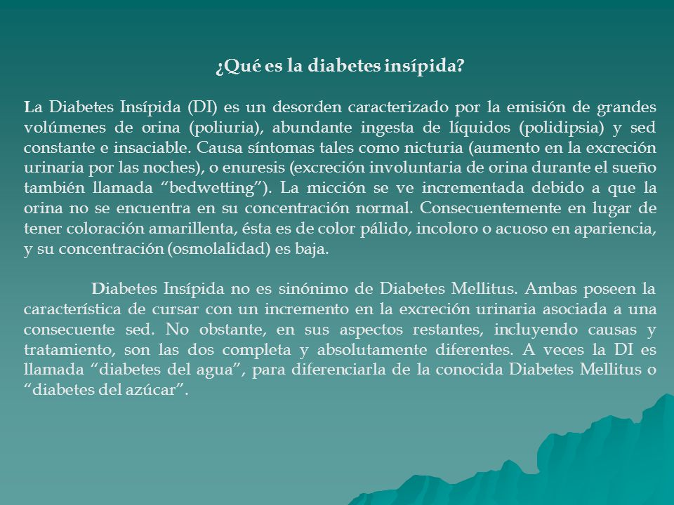 la causa de la diabetes insípida