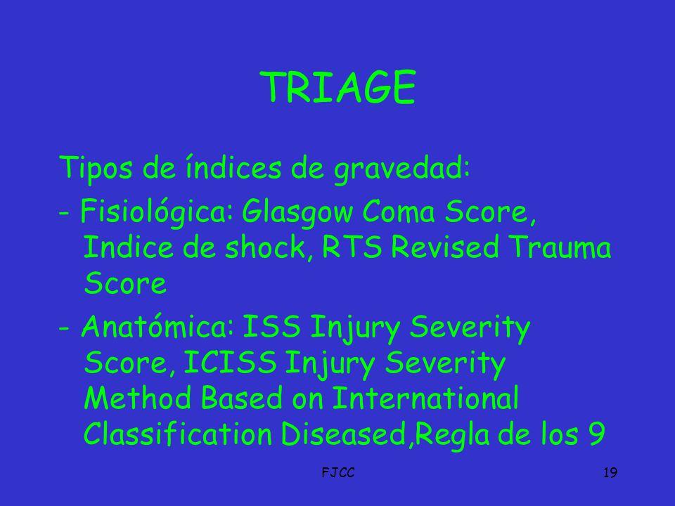 Método para la clasificación de heridos en urgencias emergencias ...