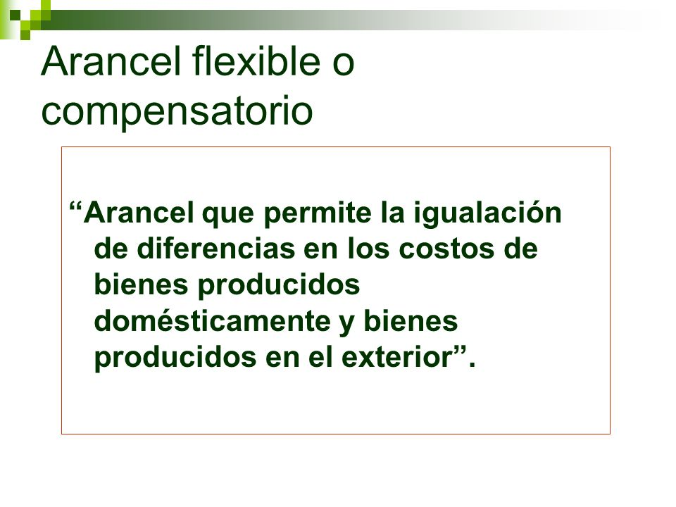 Arancel flexible o compensatorio