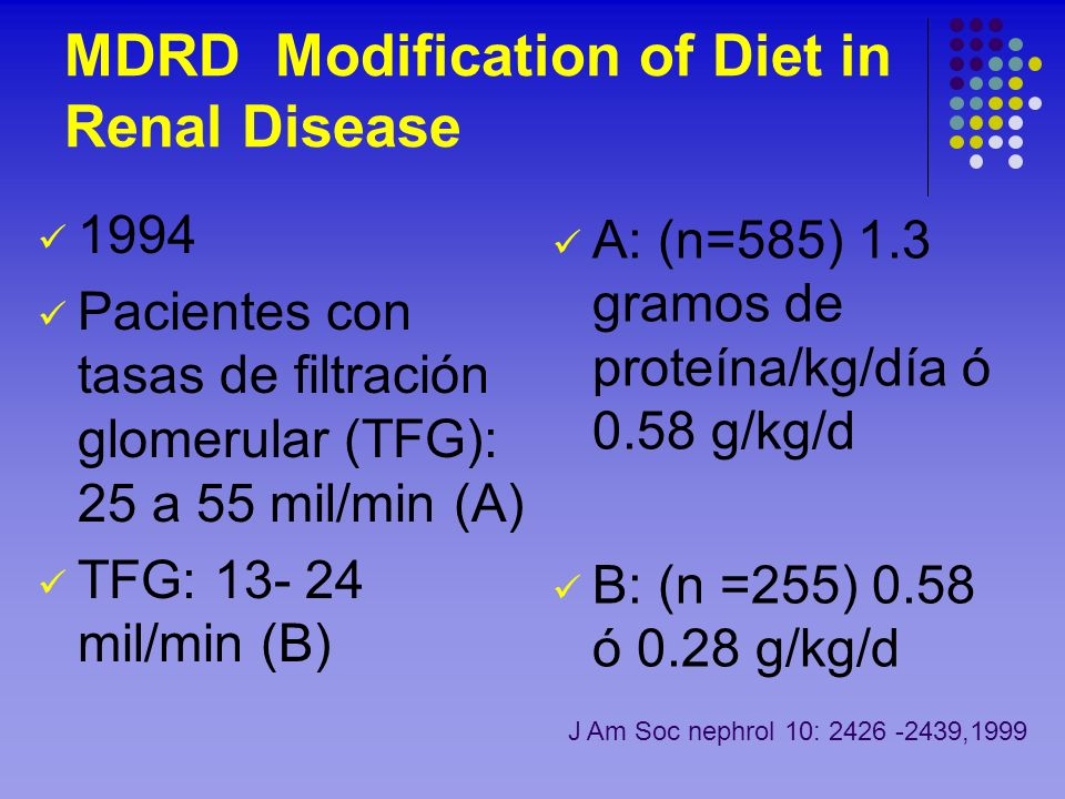 MDRD Modification of Diet in Renal Disease
