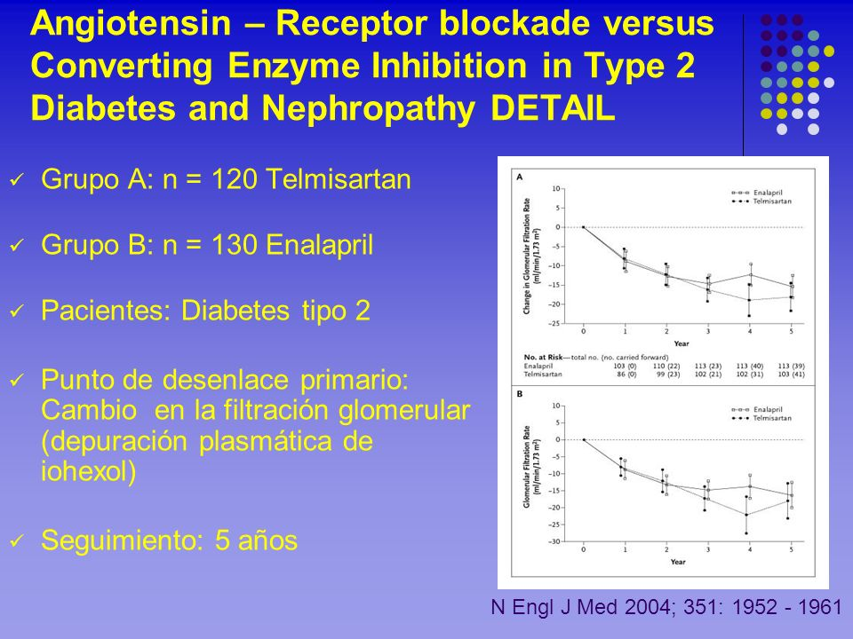 Angiotensin – Receptor blockade versus Converting Enzyme Inhibition in Type 2 Diabetes and Nephropathy DETAIL