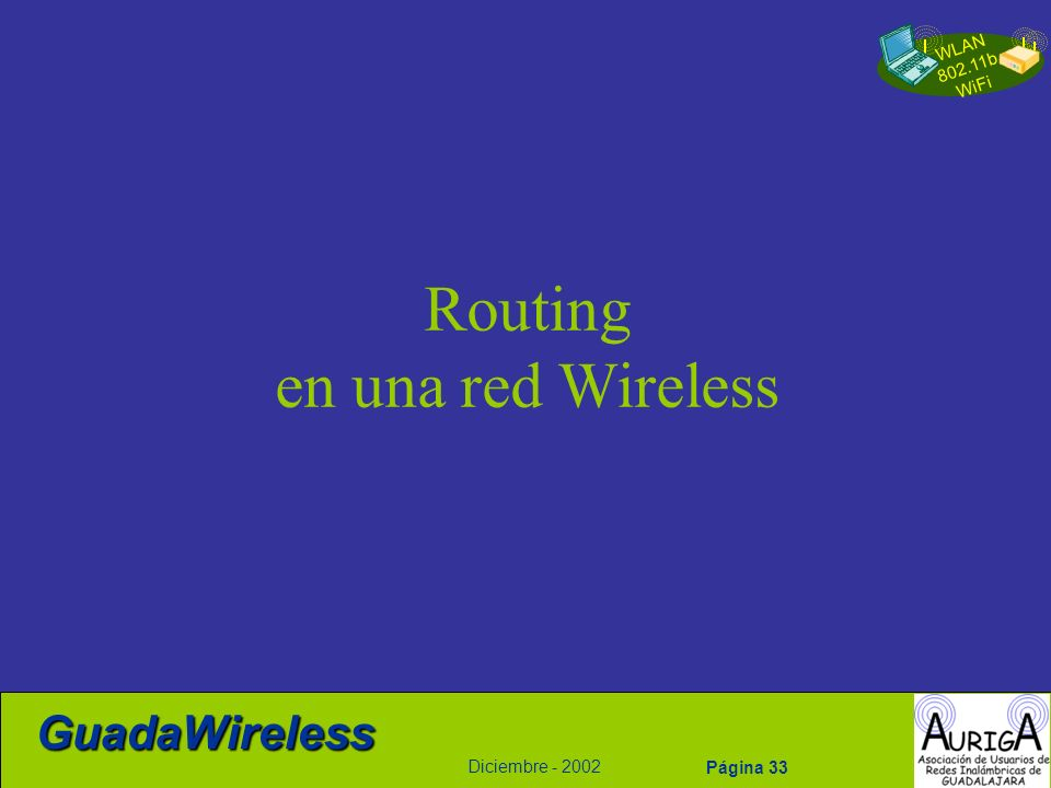 Routing en una red Wireless