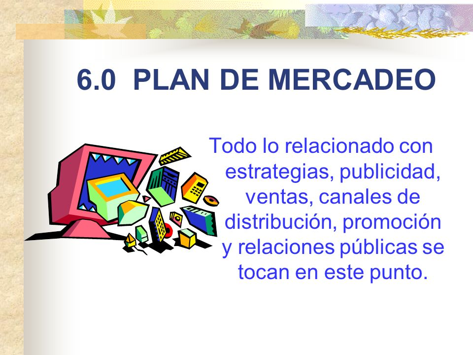 6.0 PLAN DE MERCADEO