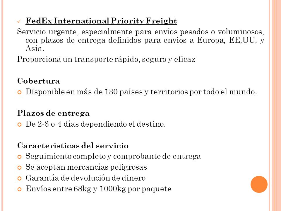 FedEx International Priority Freight