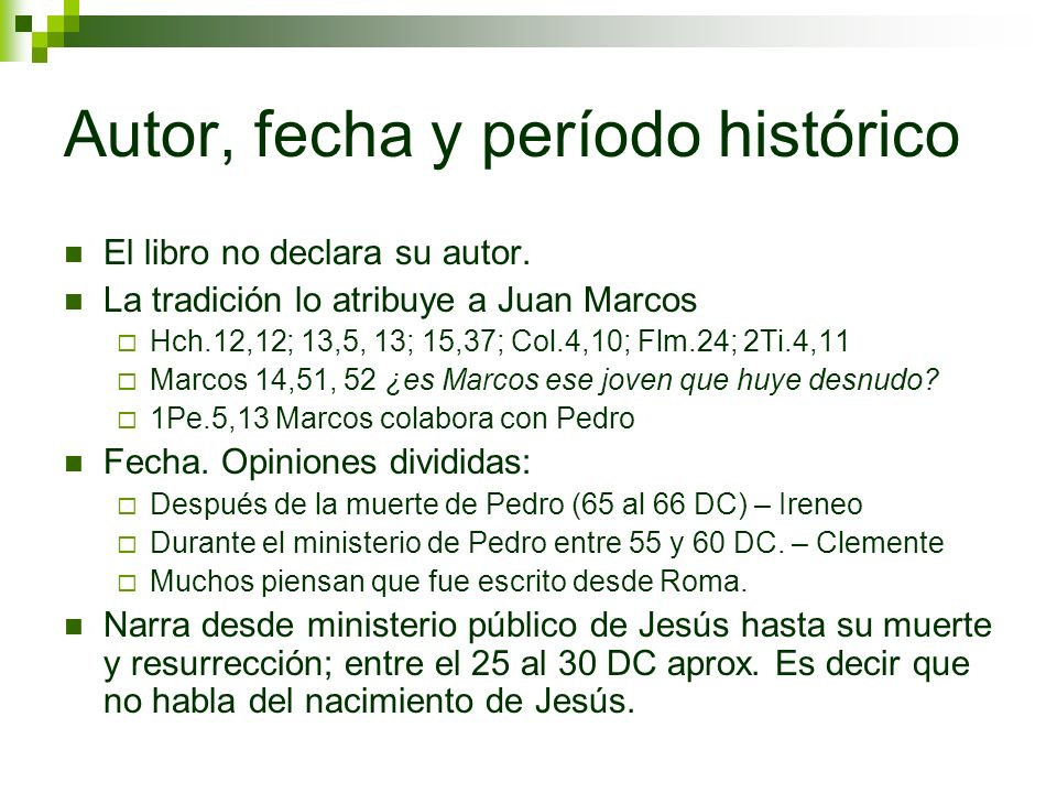 Evangelio Según Marcos - ppt video online descargar