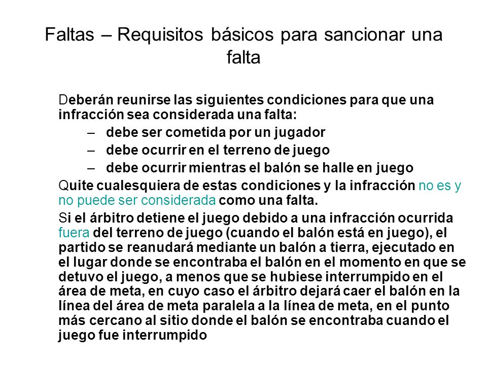Faltas – Requisitos básicos para sancionar una falta
