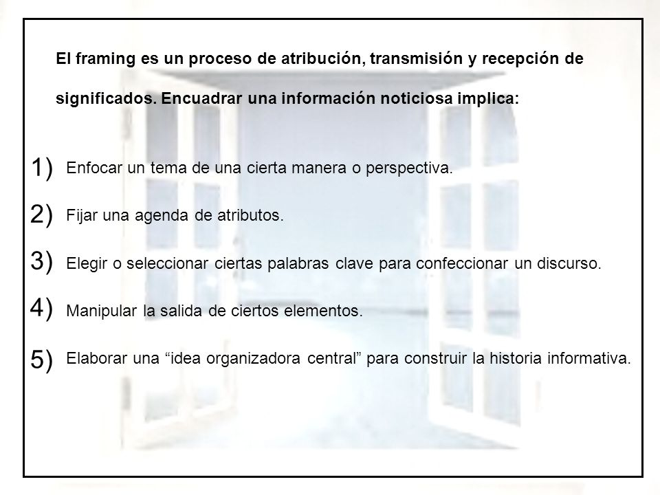 Teoría del encuadre o framing - ppt video online descargar