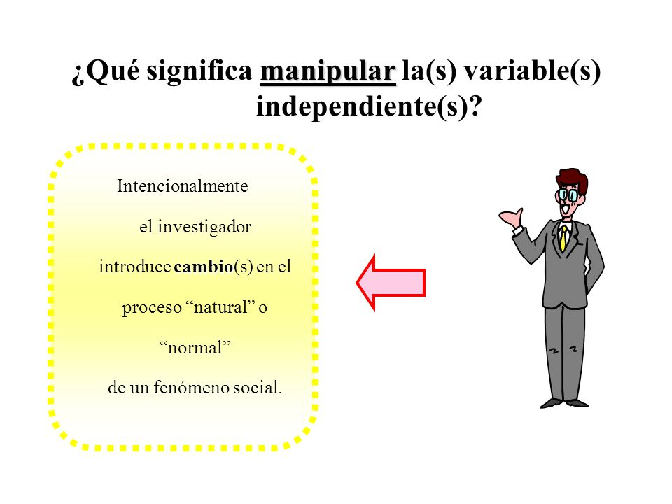 ¿Qué significa manipular la(s) variable(s) independiente(s)