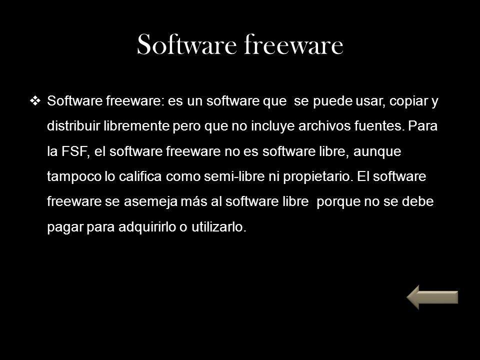 Software freeware