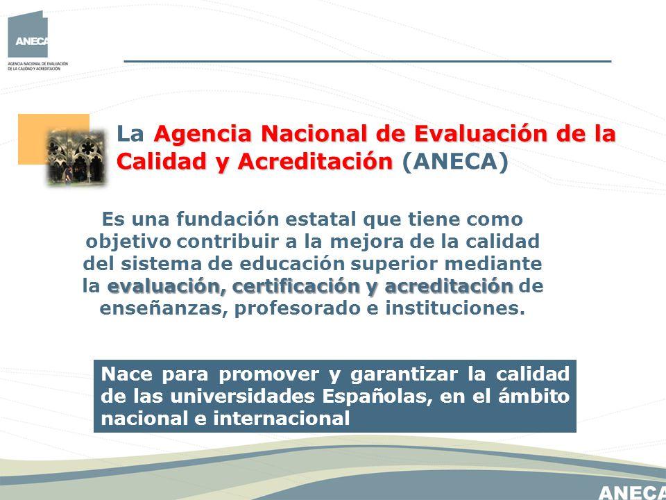 Resultat d'imatges de Agencia Nacional de Evaluación de la Calidad y Acreditación (ANECA)