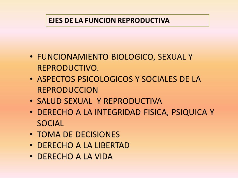 FUNCIONAMIENTO BIOLOGICO, SEXUAL Y REPRODUCTIVO.