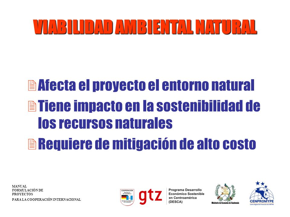 VIABILIDAD AMBIENTAL NATURAL