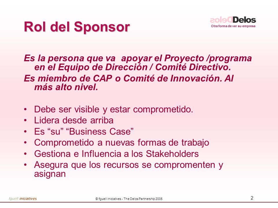 © fguell iniciatives - The Delos Partnership 2005
