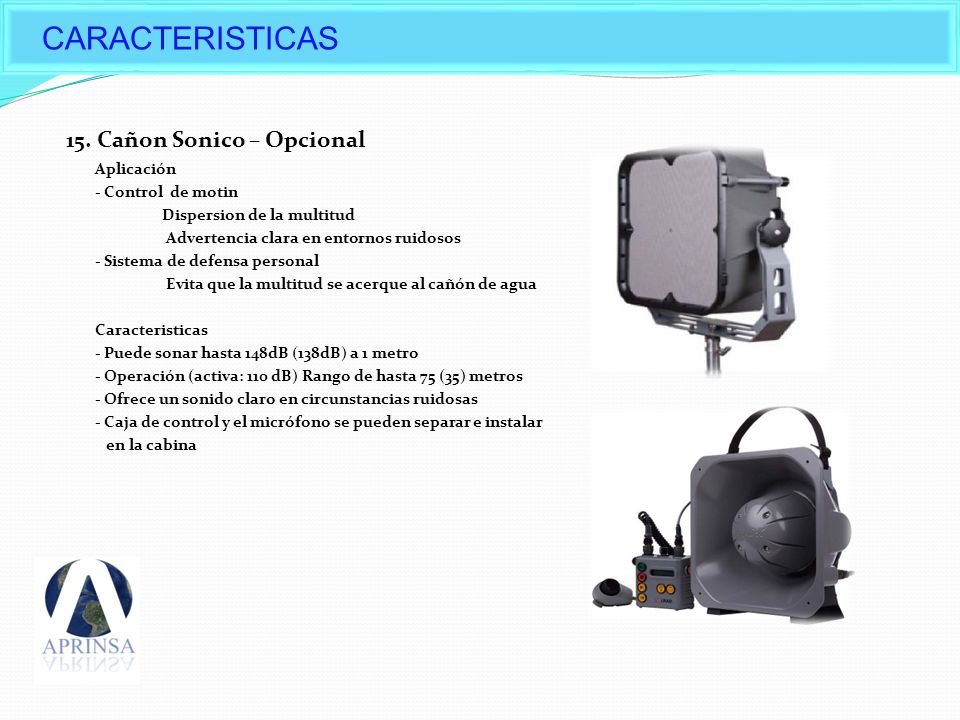 CARACTERISTICAS Options of Daeji's Water cannon