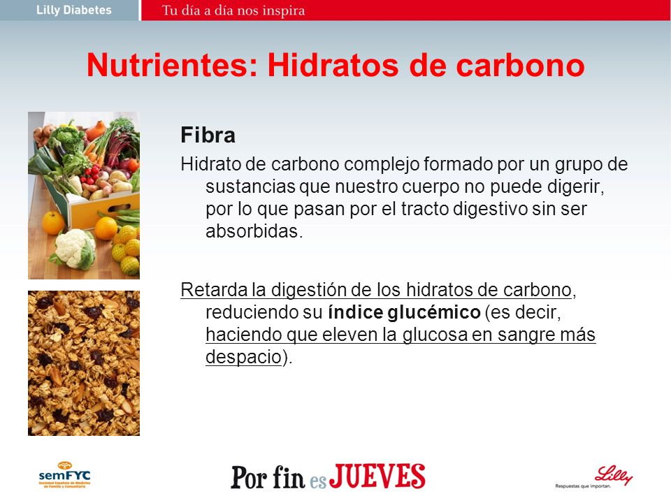 Nutrientes: Hidratos de carbono