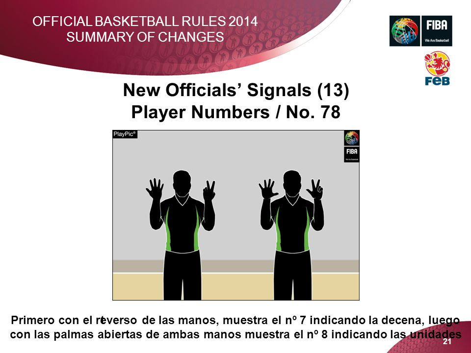 New Officials' Signals (13) Player Numbers / No. 78