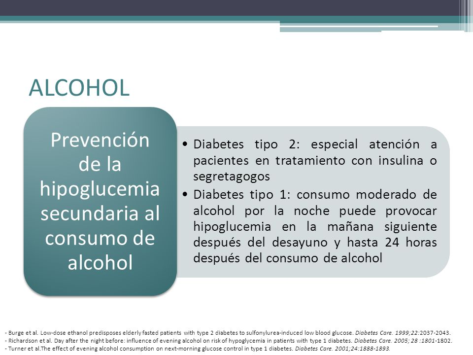 diabetes tipo 1 insulina alcohol