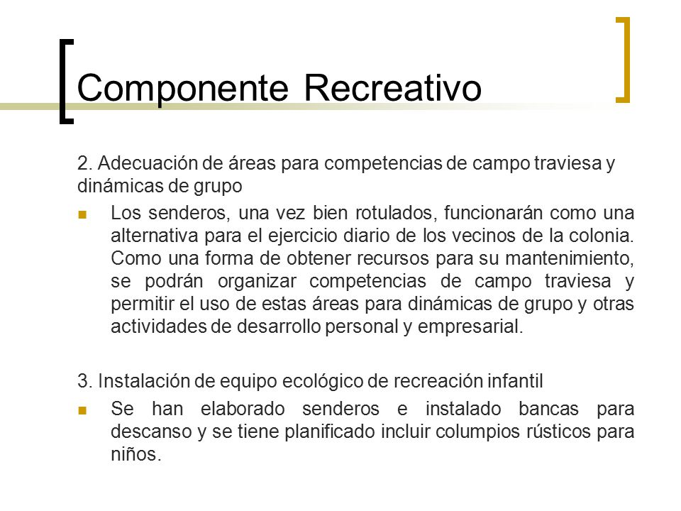 Componente Recreativo