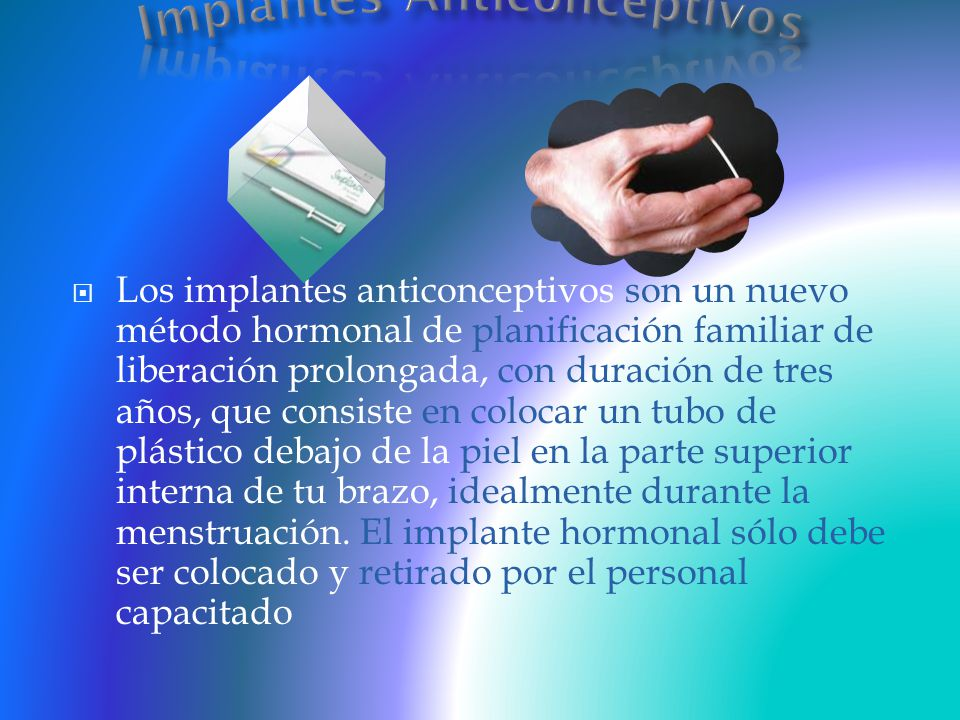 Implantes Anticonceptivos