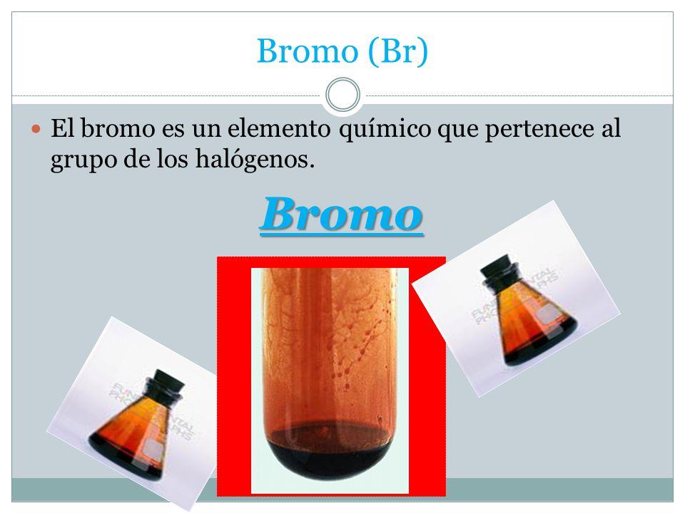 Elementos de la tabla peridica ppt video online descargar 5 bromo br el bromo es un elemento qumico que pertenece al grupo de los halgenos bromo urtaz Image collections