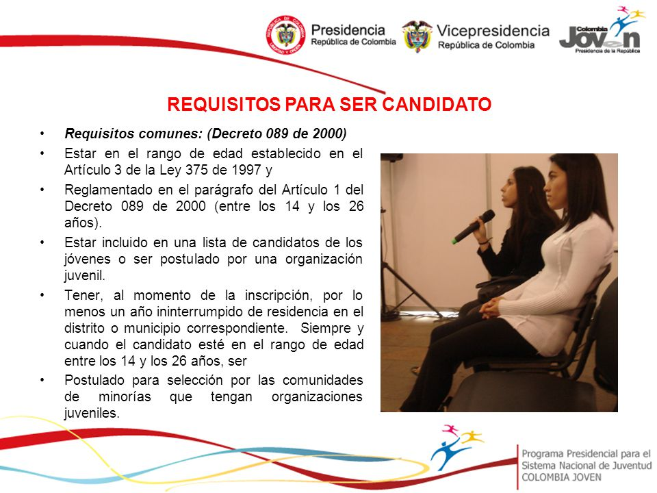 REQUISITOS PARA SER CANDIDATO