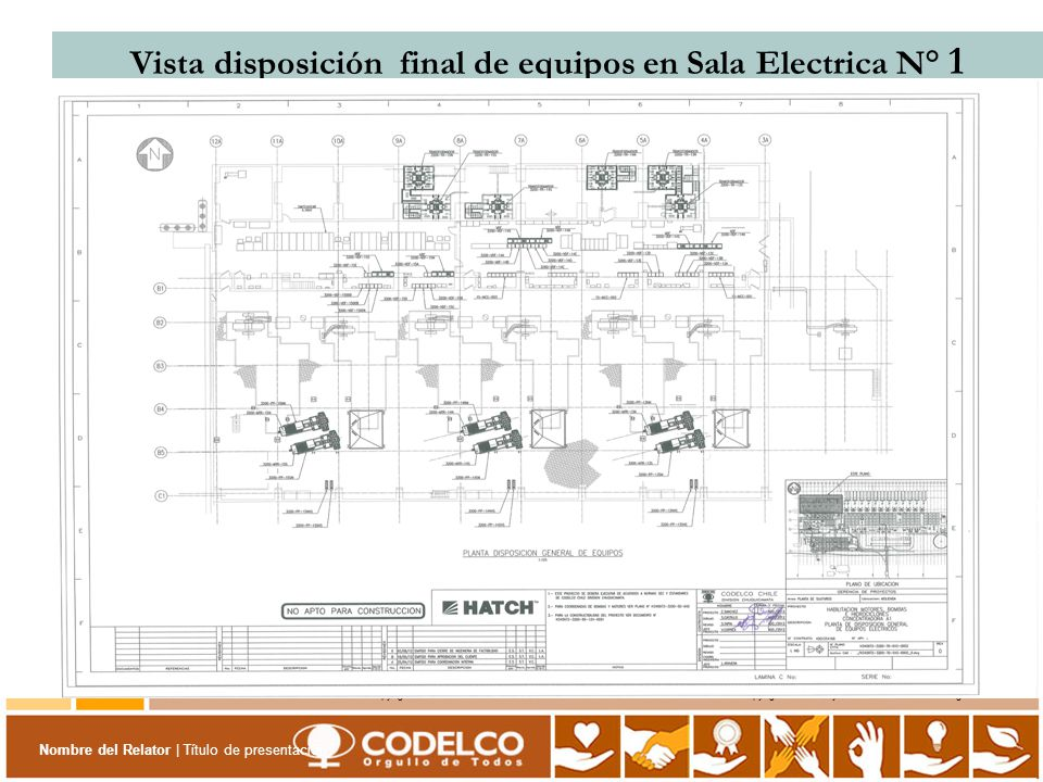Vista disposición final de equipos en Sala Electrica N° 1