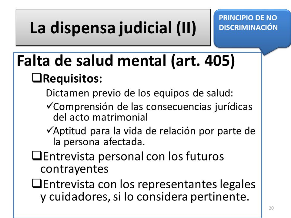 La dispensa judicial (II)