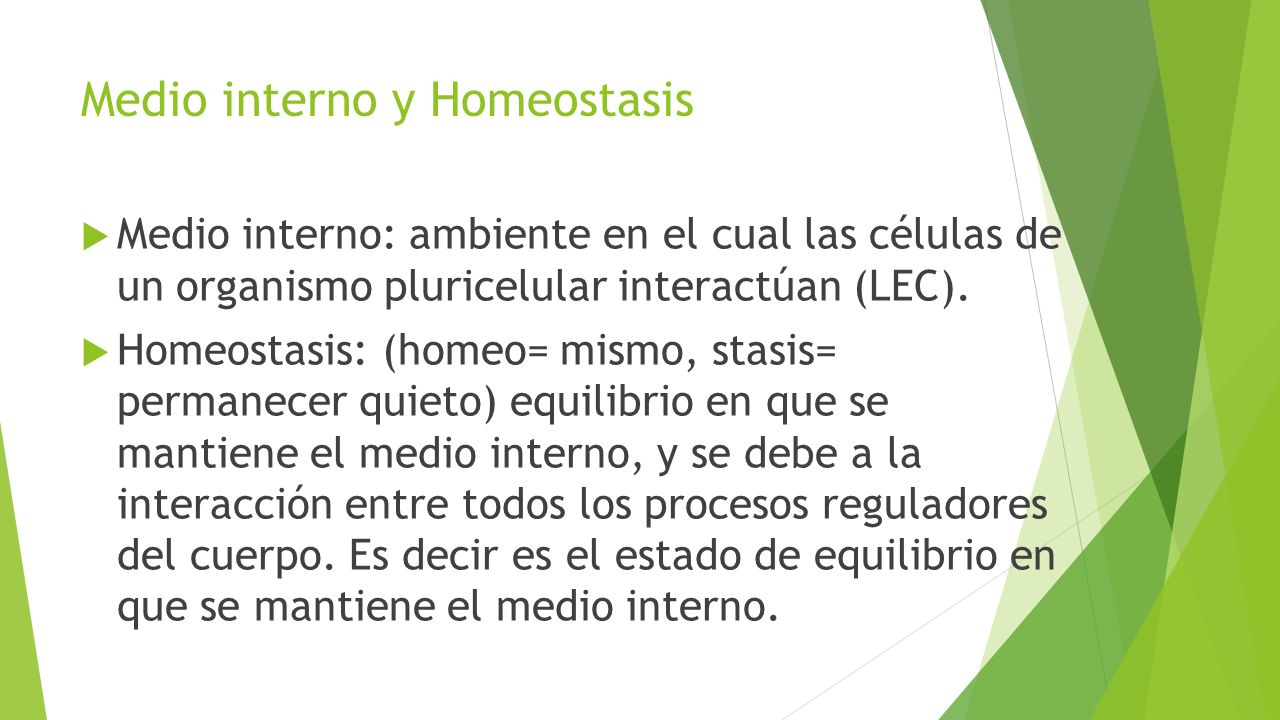 Medio interno y Homeostasis