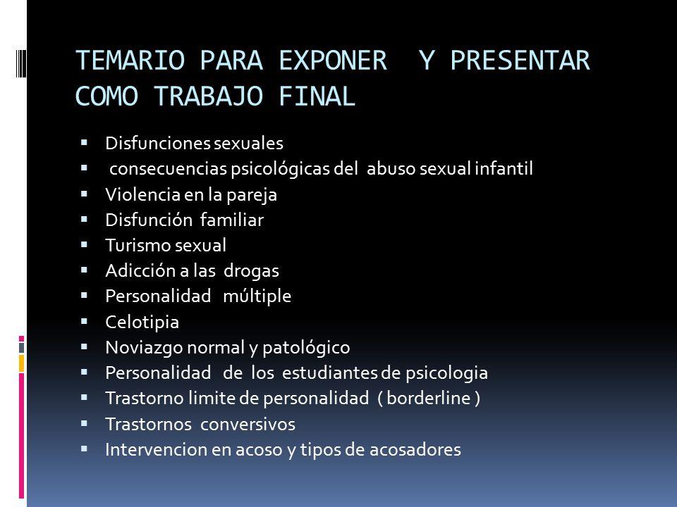 Psicopatologia Temas Y Subtemas Ppt Descargar