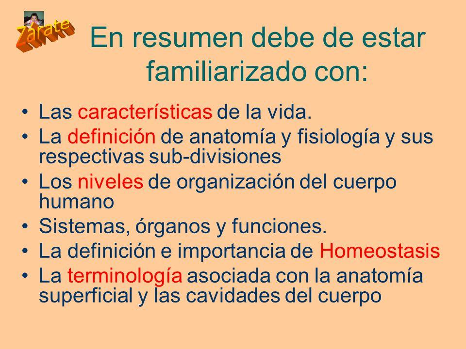 INTRODUCCIÓN NIVELES DE ORGANIZACIÓN HOMEOSTASIS ESTUDIO ANATOMICO ...