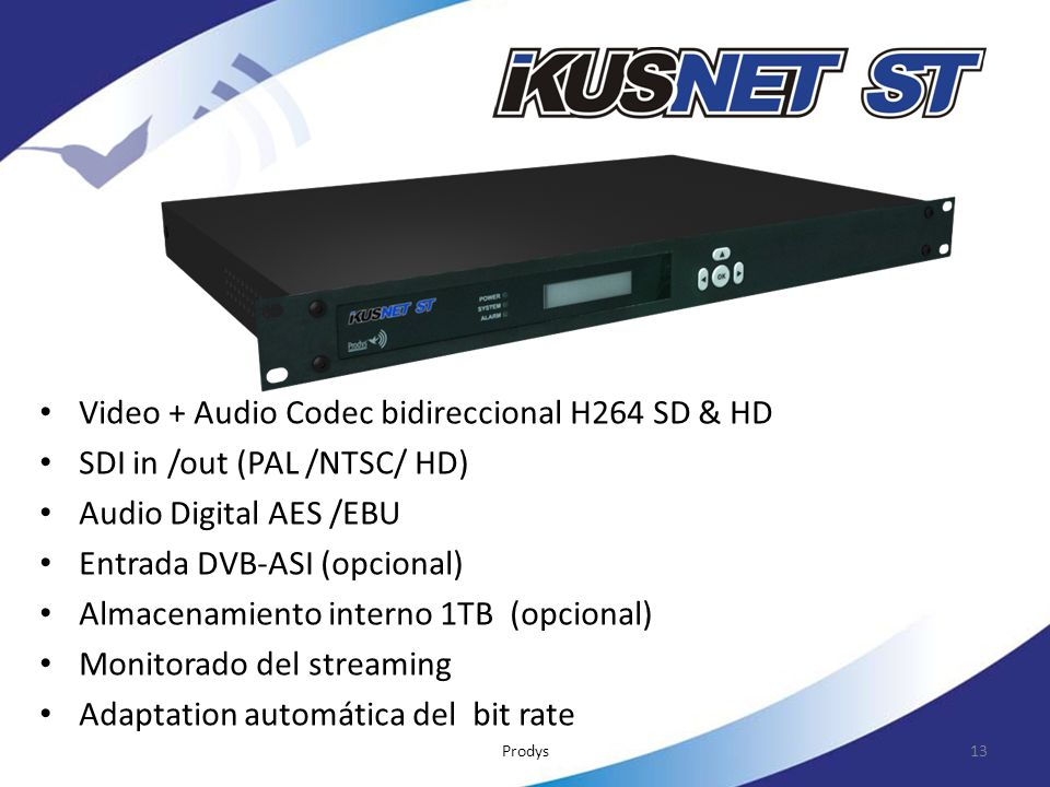 Video + Audio Codec bidireccional H264 SD & HD