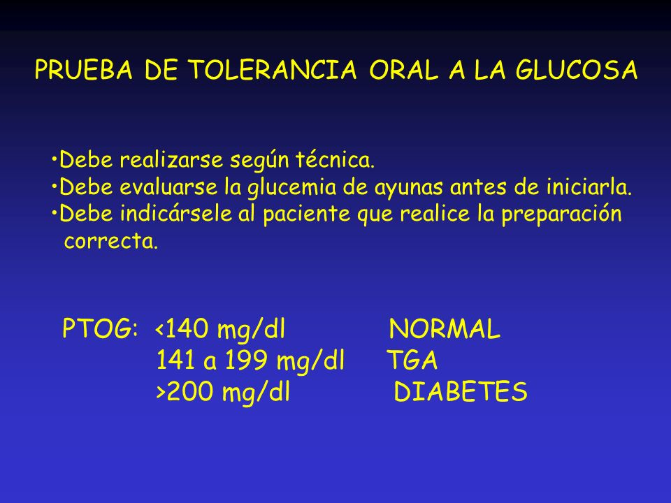 PRUEBA DE TOLERANCIA ORAL A LA GLUCOSA