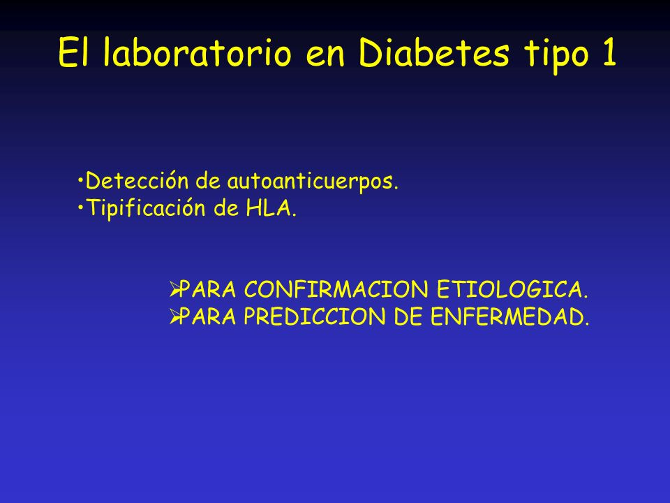 El laboratorio en Diabetes tipo 1