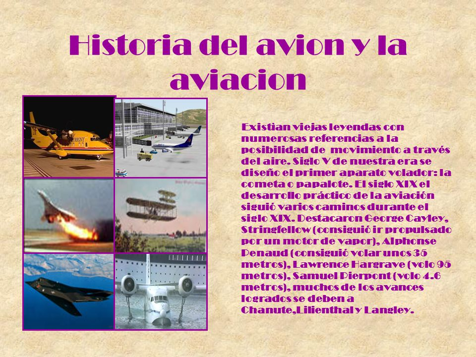 Historia del avion y la aviacion