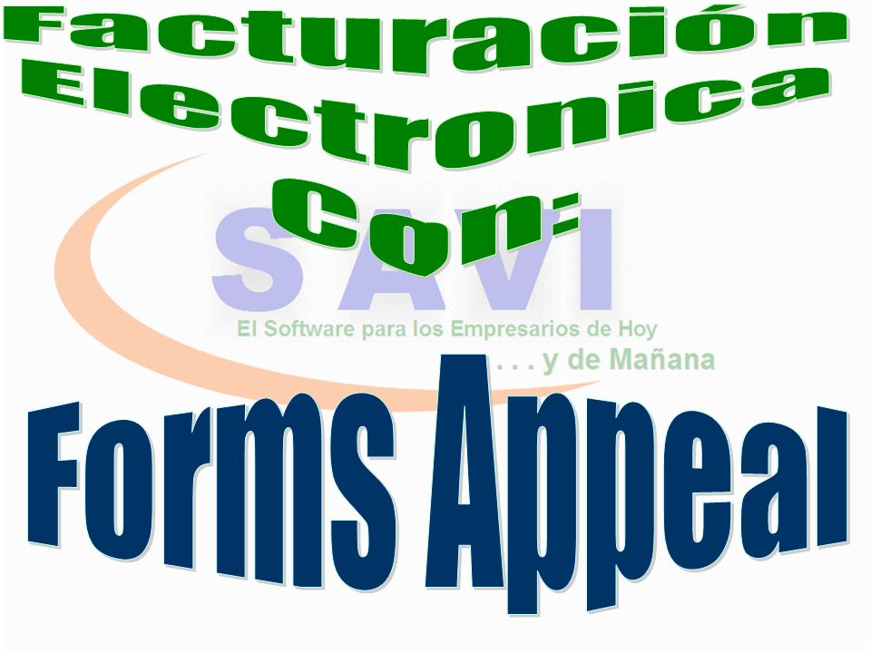 Facturación Electronica Con: Forms Appeal