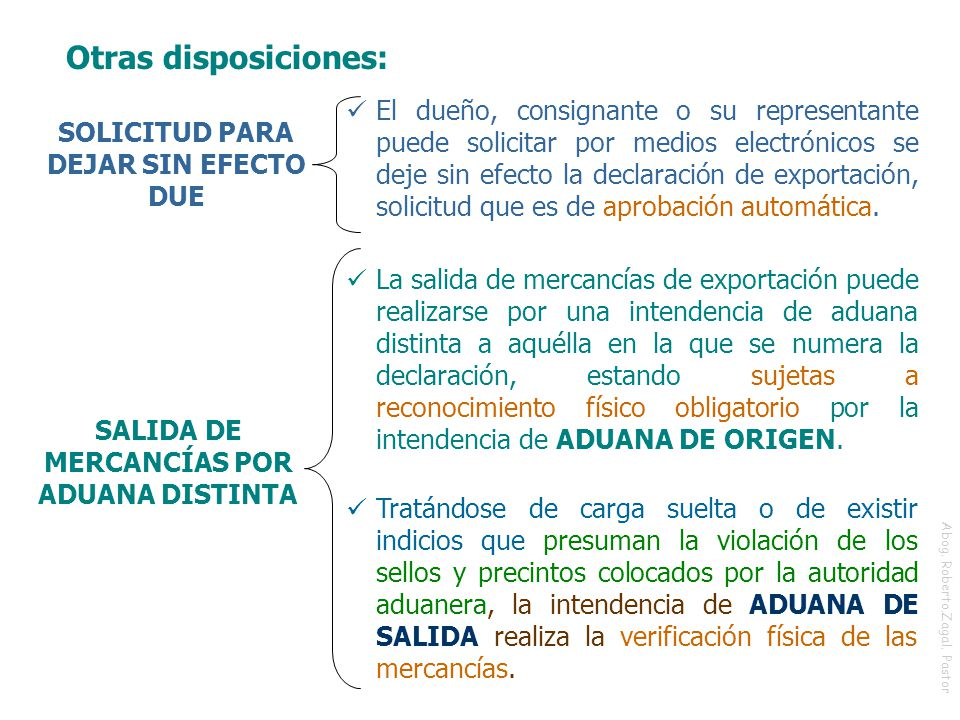 Otras disposiciones: