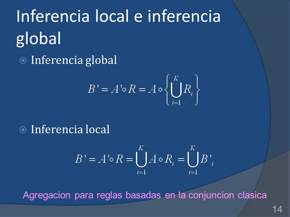Inferencia local e inferencia global