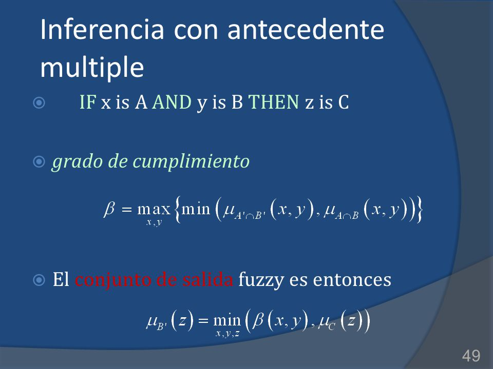 Inferencia con antecedente multiple