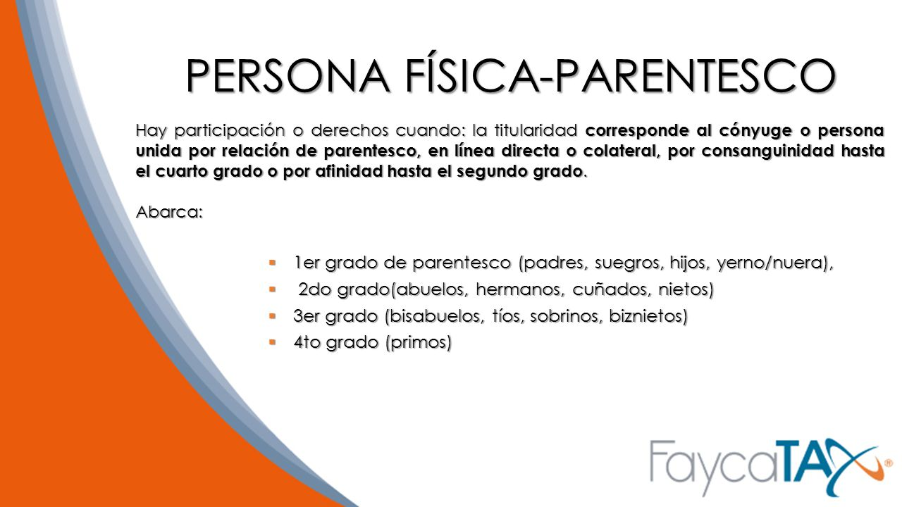 PERSONA FÍSICA-PARENTESCO