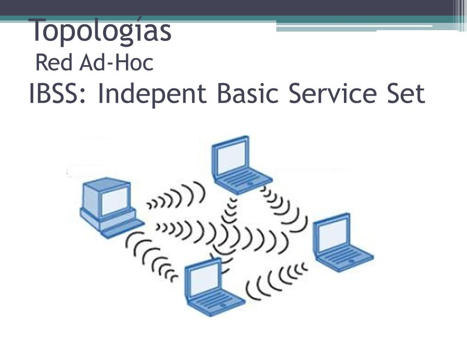 Topologías Red Ad-Hoc IBSS: Indepent Basic Service Set