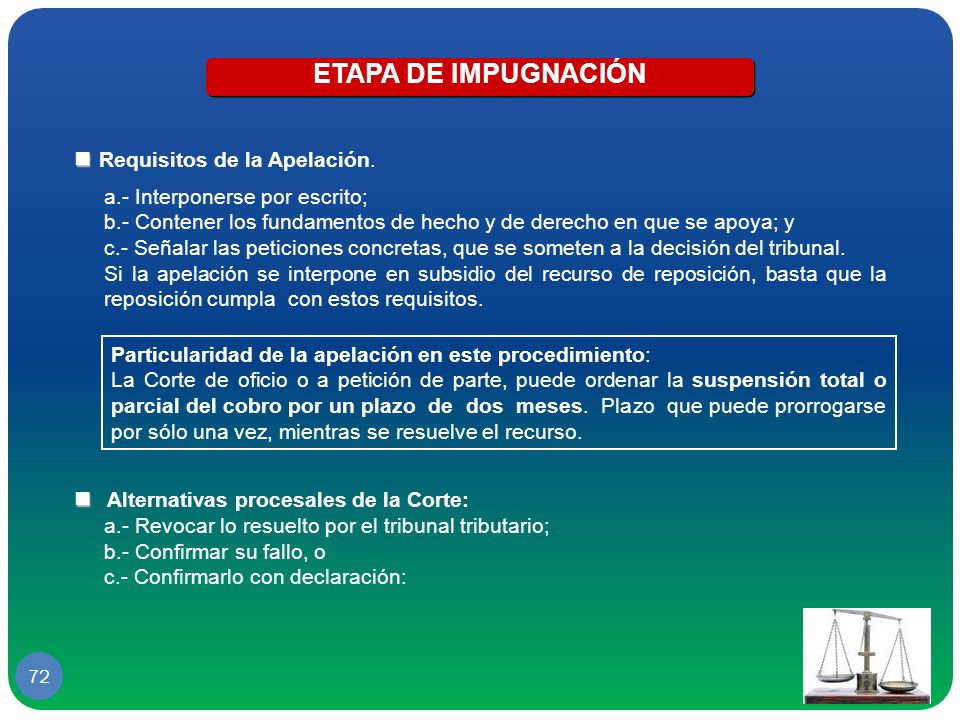 ETAPA DE IMPUGNACIÓN  Requisitos de la Apelación.