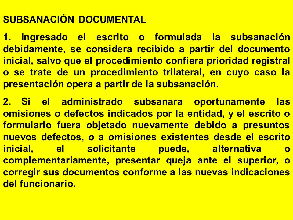 SUBSANACIÓN DOCUMENTAL