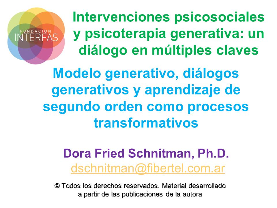 Dora Fried Schnitman, Ph.D.